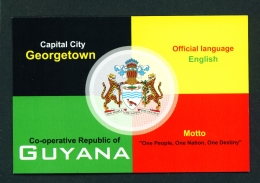 GUYANA -  Flag And Coat Of Arms  Used Postcard As Scans - Postcards