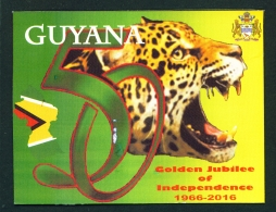 GUYANA -  Golden Jubilee Of Independence  Used Large Postcard As Scans - Postcards