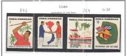 Cuba 1964 Unif.Vietnam Scott.846/849+ See Scans - Nuovi
