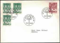 FDC 4/9 1959 Domänverket 100 år - FDC
