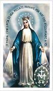 SANTINO HOLY CARD VERGINE IMMACOLATA DELLA MEDAGLIA MIRACOLOSA -SECONDA PARTE 900 (387M - Images Religieuses