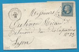 Drome - Saillans Pour Lyon. GC + CàD Type 15. Indice 9 - Marcophilie (Lettres)