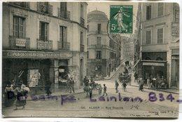 - 126 - ALGER - Rue Dupuch, Café De Cadix, Charrette, Bar, âne, Animation, écrite En 1907, BE, Scans. - Alger