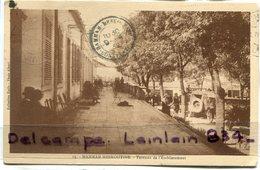 - 15 - HAMMAM MESKOUTINE - Terrasse De L'Etablissement, Animation, Rare, épaisse, écrite En 1932, BE, Scans. - Algerije