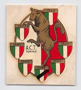 """05574  """"A.C.T. TORINO - DECALCOMANIA ADESIVA IN COLORI - ANNI '50 DEL XX SECOLO"""" ORIGINALE - Abbigliamento, Souvenirs & Varie"""
