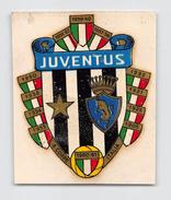 """05575  """"F. C. JUVENTUS - DECALCOMANIA ADESIVA IN COLORI - ANNI '60 DEL XX SECOLO"""" ORIGINALE - Abbigliamento, Souvenirs & Varie"""