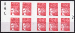 3085 C 4 MARIANNE 14 JUILLET PHILEX. Type I - Date Haute 19.08.98 - - Carnets