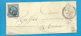 Haute Garonne - St Elix Pour Toulouse. GC 4856 + CàD Perlé Type 22. 1868. Indice 16 - Marcophilie (Lettres)
