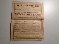 AU CAPRICE, Vers 1910, Limoges, Place St Michel,  Publicité - Advertising