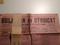 BULLETIN Du SYNDICAT Des Agriculteurs De La Hte Vienne, 1928, Mensuel - Journaux - Quotidiens