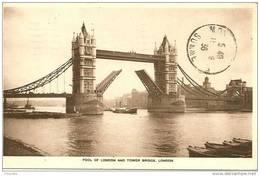 ANGLETERRE LONDRES  LONDON  - TAMISE THAMES Et TOWER BRIDGE En 1936 - River Thames