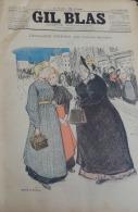 GIL BLAS 1895N°38: LEOCADIE FRIPIER CATULLE MENDES/GEORGES GRELLET/STEINLEN /PHOTO De NUE/ BALLURIAU - Livres, BD, Revues