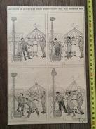 AVANT 1890 GRAVURE HUMOUR LES COUPS SE SUIVENT ET NE SE RESSEMBLENT PAS DE GEORGES HEM A LA FOIRE JEU DE FORCE MARTEAU - Collections