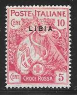 Libya, Scott # B1 Mint Hinged Italy Stamp Overprinted,1916 - Libya