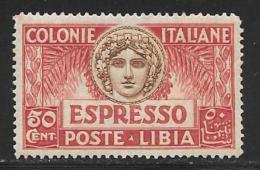 Libya, Scott # E4 Mint Hinged Special Delivery, 1921 - Libya