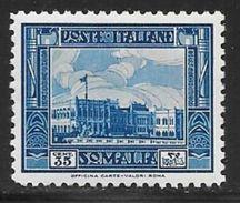 Somalia, Scott # 145 Perf 12 Mint Hinged Governor's Palace, 1932 - Somalia