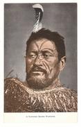 New Zealand (NZ), Maori Warrior, Facial Tattoo, Cloak, Postcard - Nouvelle-Zélande