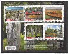 Canada, 2014, MNH, Patrimoine Mondiale De L´UNESCO, UNESCO World Heritage, Totem, Indiens D´amériques, Amérindien - 1952-.... Regno Di Elizabeth II