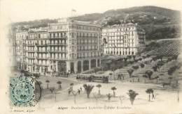 """CPA ALGERIE """"Alger, Boulevard Laferrière, Hôtel Excelsior"""" / GEISER - Algerien"""