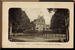 CPA 36 VALENCAY LE CHATEAU VU DE LA ROUTE DE SELLES ANIMEE 1923 LIB TRONE FILS VALENCAY - Autres Communes