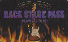 Hard Rock Casino - Las Vegas, NV - 4th Issue Slot Card - DLR CP Over Mag Stripe  (BLANK) - Casino Cards