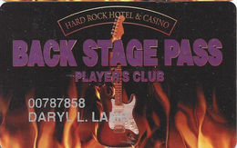 Hard Rock Casino - Las Vegas, NV - 5th Issue Slot Card - Nothing Over Mag Stripe - Casino Cards