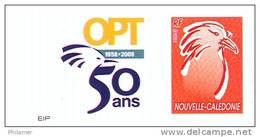 Nouvelle Caledonie Timbre Poste Personnalise 1er Public, Soit Tirage Officiel 50 Ans Opt Salon Collectionneur, 2008 TBE - Unclassified