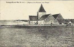 CPA De VARENGEVILLE SUR MER - L'Eglise Et Les Falaises, Vers Dieppe. - Varengeville Sur Mer