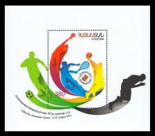 Armenia 2011 Mih. 752 (Bl.42) Fifth Panarmenian Games. Football. Basketball. Tennis MNH ** - Arménie