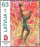 Latvia 2008 Mih. 737 Olympic Games In Beijing. Basketball MNH ** - Latvia