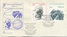 ITALIA - FDC CAPITOLIUM AZZURRA 1979 - TELECOMUNICAZIONI - ARTE - GRECO - 6. 1946-.. Repubblica