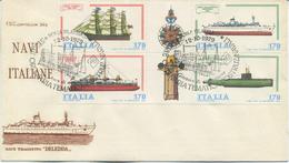 ITALIA - FDC CAPITOLIUM 1979 - COSTRUZIONI NAVALI ITALIANE - ANNULLO SPECIALE - 6. 1946-.. Repubblica