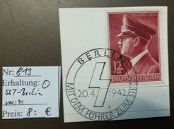 Deutsches Reich Michel Nr: 813  Sonderstempel Berlin HJ  #4787 - Allemagne