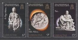 SERIE NEUVE DE GIBRALTAR - SCULPTURES DE MICHEL-ANGE N° Y&T 329 A 331 - Sculpture