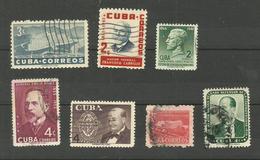 Cuba N°414, 420, 426, 433, 444, 447, 448 Cote 3.55 Euros - Cuba