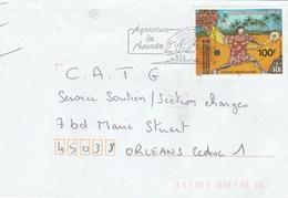 NOUVELLE CALEDONIE YT 865 SEUL SUR LETTRE NOUMEA 3/7/2002 POUR ORLEANS - TDA167 - Briefe U. Dokumente