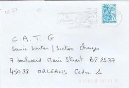 NOUVELLE CALEDONIE YT 849 SEUL SUR LETTRE NOUMEA 02/2002 POUR ORLEANS - TDA167 - Briefe U. Dokumente