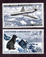 St Pierre Et Miquelon PA N°24,25 N* TB  Cote 85 Euros !!! - Unclassified