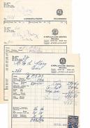 1931 - PRAHA (Prague) République TCHÈQUE - ESPLANADE HOTEL - 2 Facture Avec Timbres Fiscaux - Historical Documents