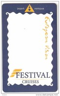 Festival Cruises-European Vision ,keycard - Cartes D'hotel