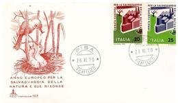 Fdc Capitolium:  PROTEZIONE NATURA 1970 ,no Viaggiata AF_Pisa - 6. 1946-.. Repubblica
