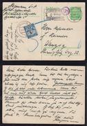 Danzig Gdansk 1937 Ganzsache Mit Porto Marke Postage Due Rohrpost Werbung - Dantzig