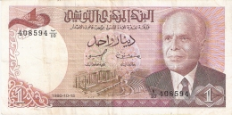 TUNISIE   1 Dinar   15/10/1980   P. 74 - Tunisie