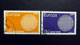 Andorra 222/3 Oo/ESST, EUROPA/CEPT 1970