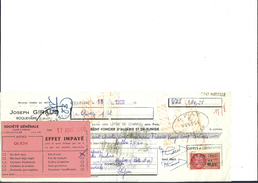 Ref 22/ 13, Roquevaire,  Joseph Giraud, Crédit Foncier D'Algérie Et De Tunisie, 1960, Pour Dijon 21 - Banque & Assurance
