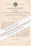 Original Patent - Christian Hagans , Erfurt  1900 , Lokomotive Mit Gekuppelten Achsen U. 4 Außen - Zylindern | Eisenbahn - Historische Dokumente