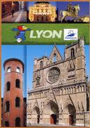 """69 / LYON - France 98 Et Mascotte Officielle """"Footix"""" - Coupe Du Monde De Football - Altri"""