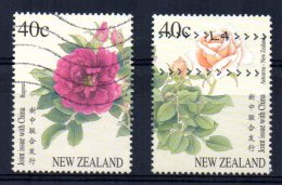 New Zealand - 1997 - New Zealand -China Joint Issue/Roses - Used - Nouvelle-Zélande