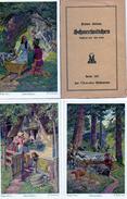 BRUDER GRIMM - SCHNEEWITTCHEN -BIANCANEVE -illustratore OTTO KUBEL - N° 147  SERIE 6 CARTOLINE Originali - NON VIAGGIATE - Fairy Tales, Popular Stories & Legends