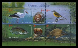 Moldova 2014 Mih. 883/88 (Bl.67) Fauna MNH ** - Moldawien (Moldau)